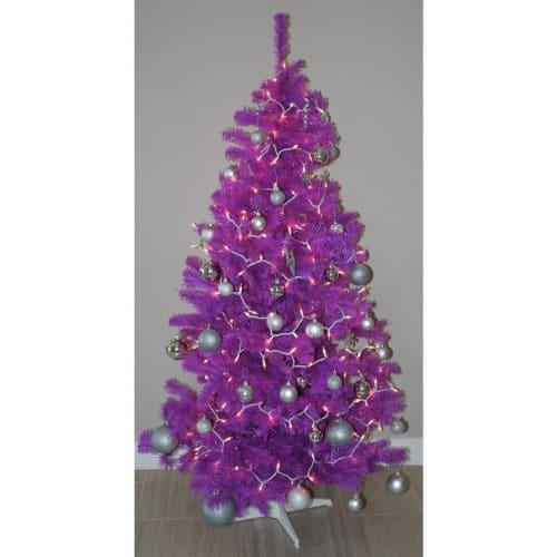 OPEN BOX Homegear 6FT Artificial Purple Christmas Tree