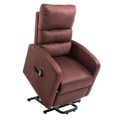Homegear Microfibre Power Lift Riser Recliner Chair with Electric Recline and Remote - Chocolate