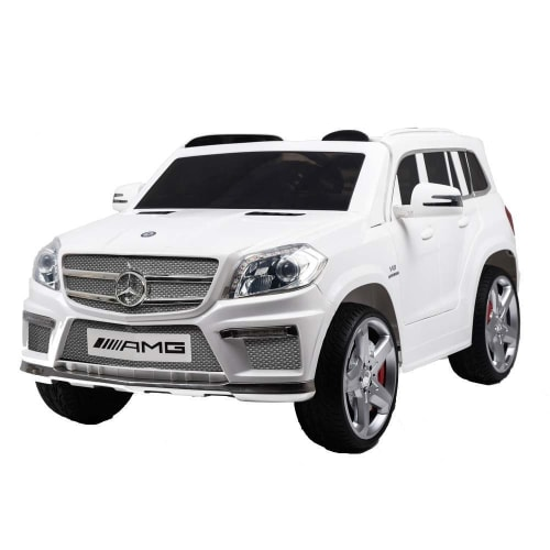 OPEN BOX Mercedes by ZAAP Premium GL63 AMG Kids Electric Battery Toy Ride on Car with Suspension White