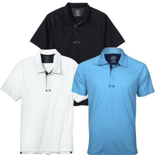 Oakley Short Sleeve Elemental Polo Shirt 3 Pack Small