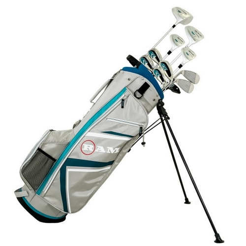 Ram Golf Accubar Plus Petite Golf Clubs Set - Graphite Shafted Woods and Irons - Ladies Right Hand