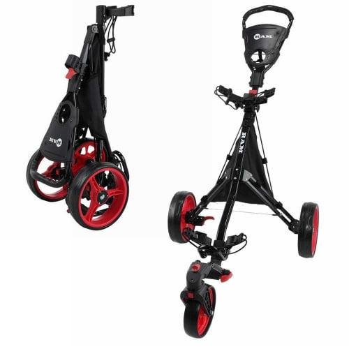 Ram Golf Push / Pull 3-Wheel Golf Cart / Trolley with 360° Rotating Front Wheel for Ultimate Agility