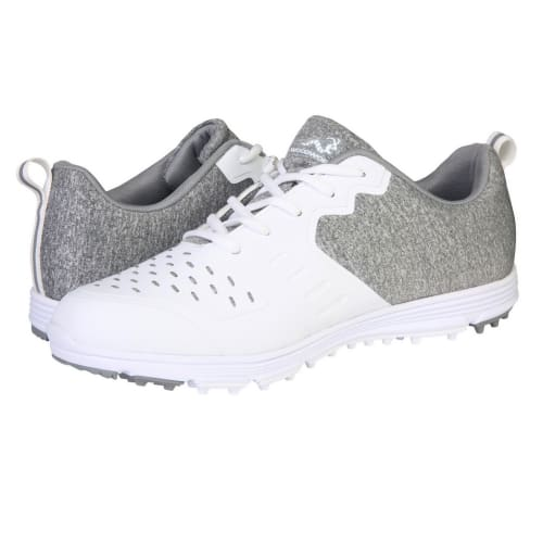 Woodworm Golf Sense Spikeless Golf Shoes, Mens, White/Grey