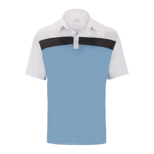 Woodworm Golf Shirt Tour Panel Polo - Mens - Blue