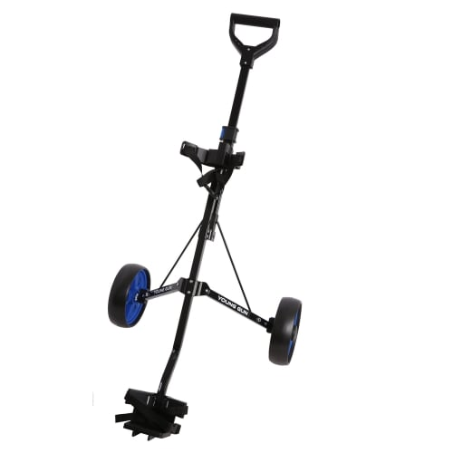 Young Gun Kids Adjustable Golf Trolley for Junior Golfers 3-14 Years Old Black/Blue