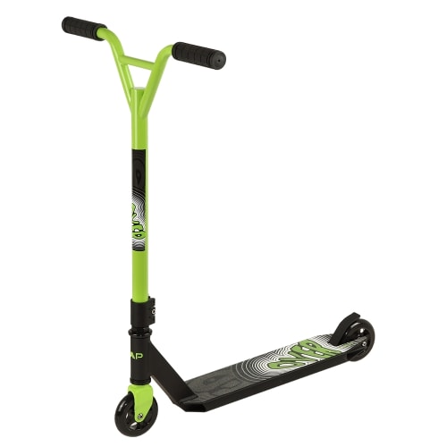 OPEN BOX ZAAP 360 Freestyle Stunt Scooter - Black/Green