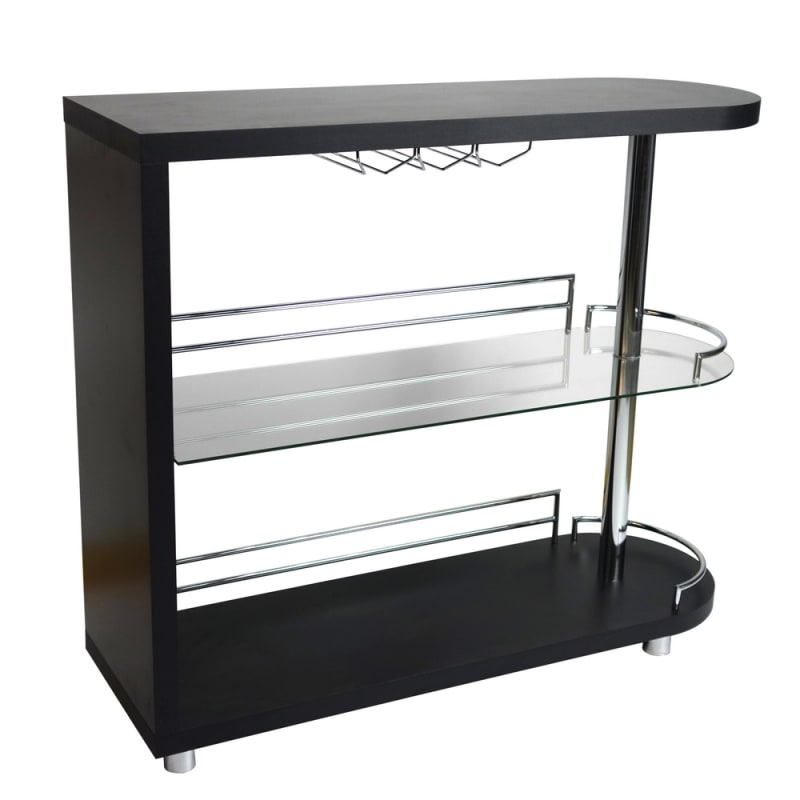 Homegear Deluxe Kitchen Bar Table - Black #4