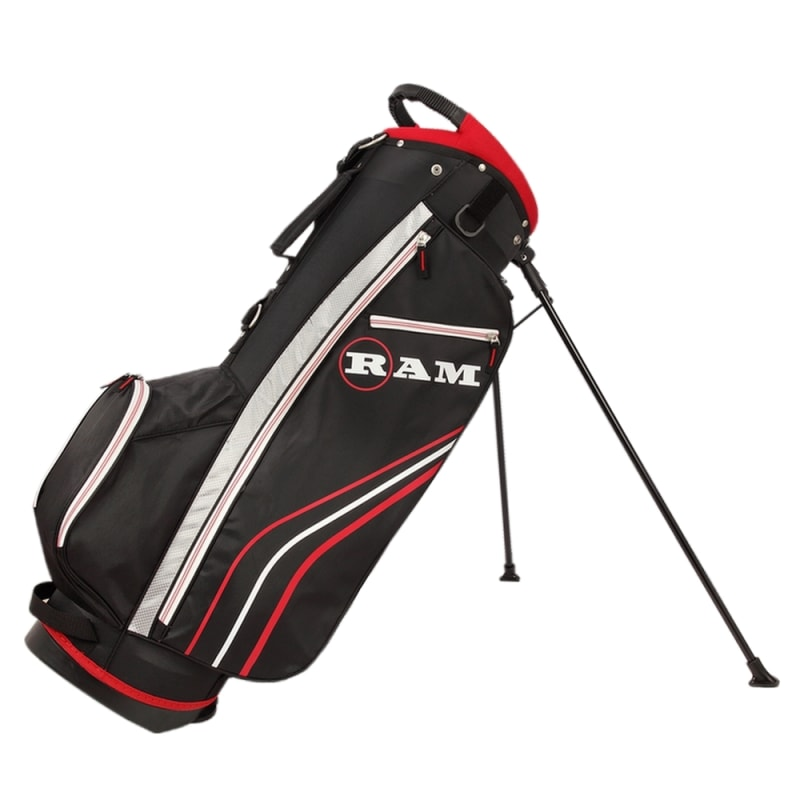 Ram Golf Accubar 1 Inch Longer 12pc Golf Clubs Set - Graphite Shafted Woods, Steel Shafted Irons - Mens Right Hand - Stiff Flex #7