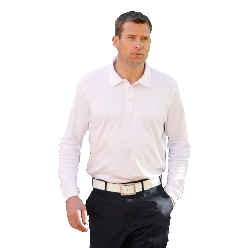 Glenmuir Rhyl Supima Cotton Long Sleeve Golf Shirt