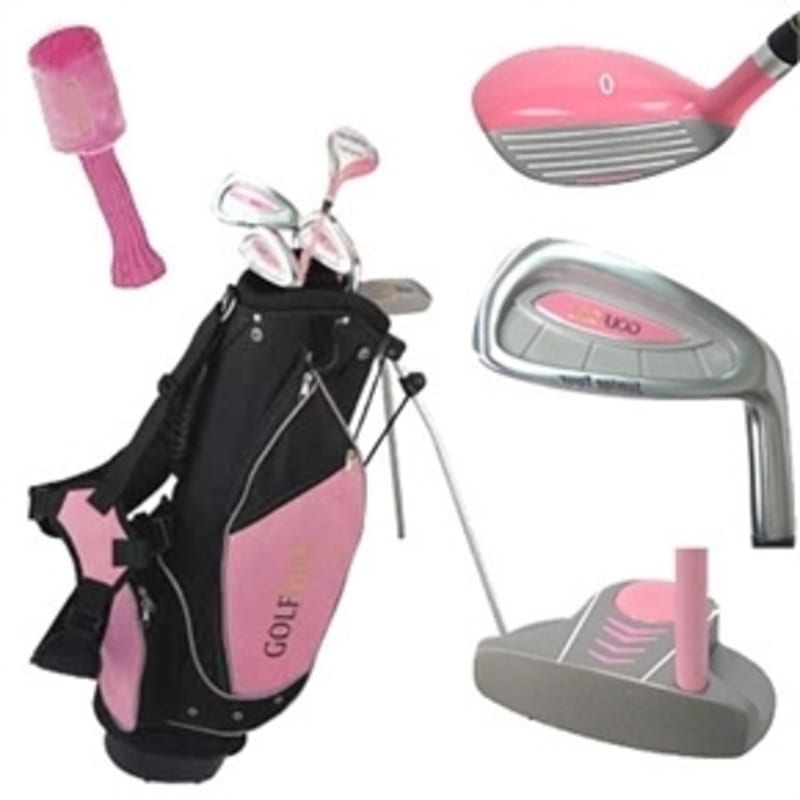 Golf Girl Pink Junior Set inc Bag Right Hand
