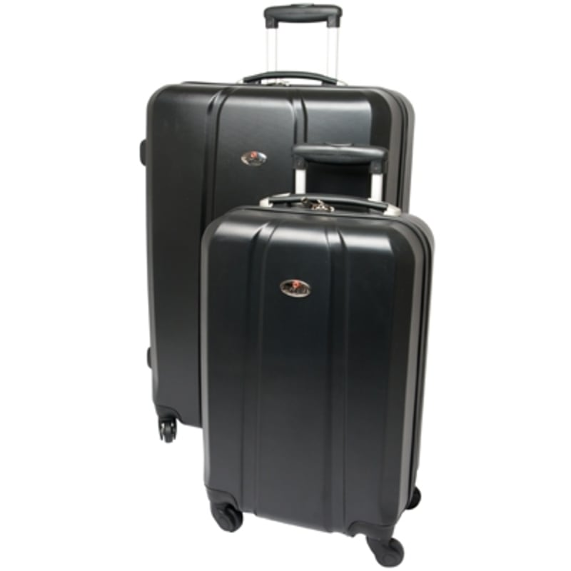 "OPEN BOX Swiss Case Diamond Black 28"" 2 PC Spinner Luggage"