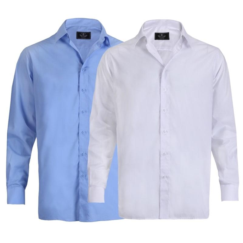 Ciro Citterio Mens Long Sleeve Dress Shirt 2 Pack