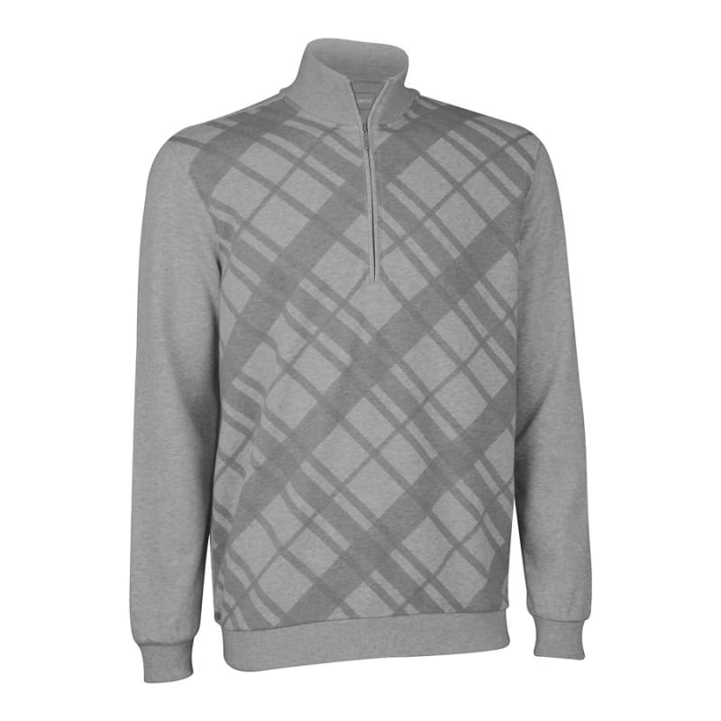 Ashworth French Terry Print Half-Zip Jumper