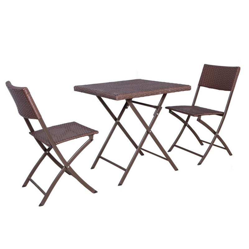 Palm Springs Garden 3 Piece Rattan Bistro Set