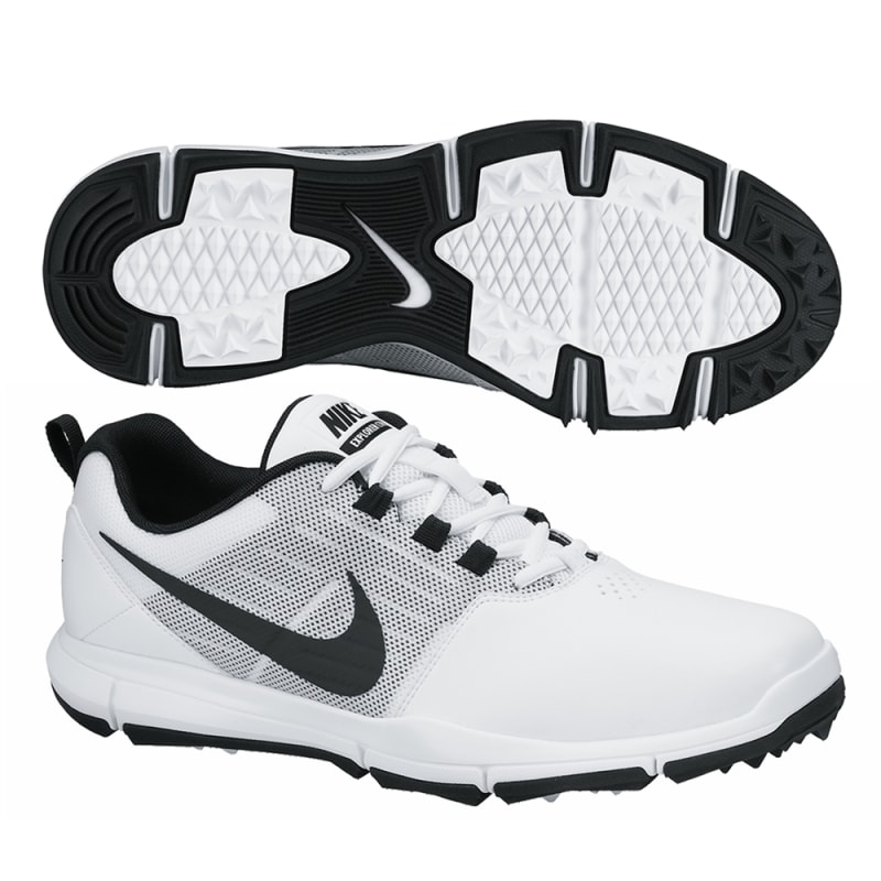 Nike Explorer Golf Shoes - White / Black