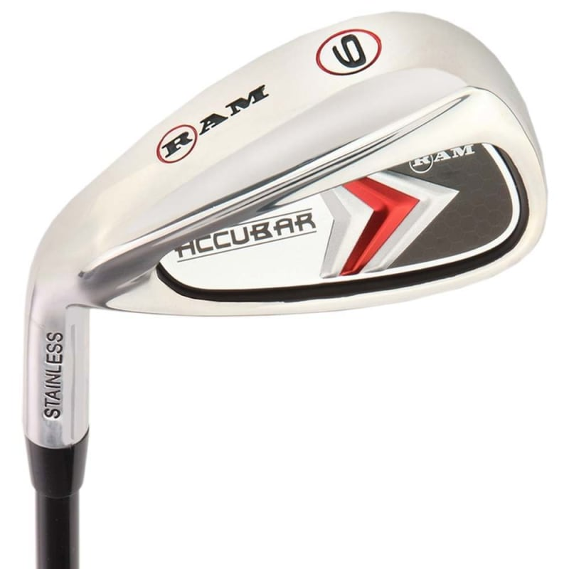 Ram Golf Accubar Mens Clubs All Graphite Iron Set 6-7-8-9-PW with Hybrids 24° and 27° - Lefty #