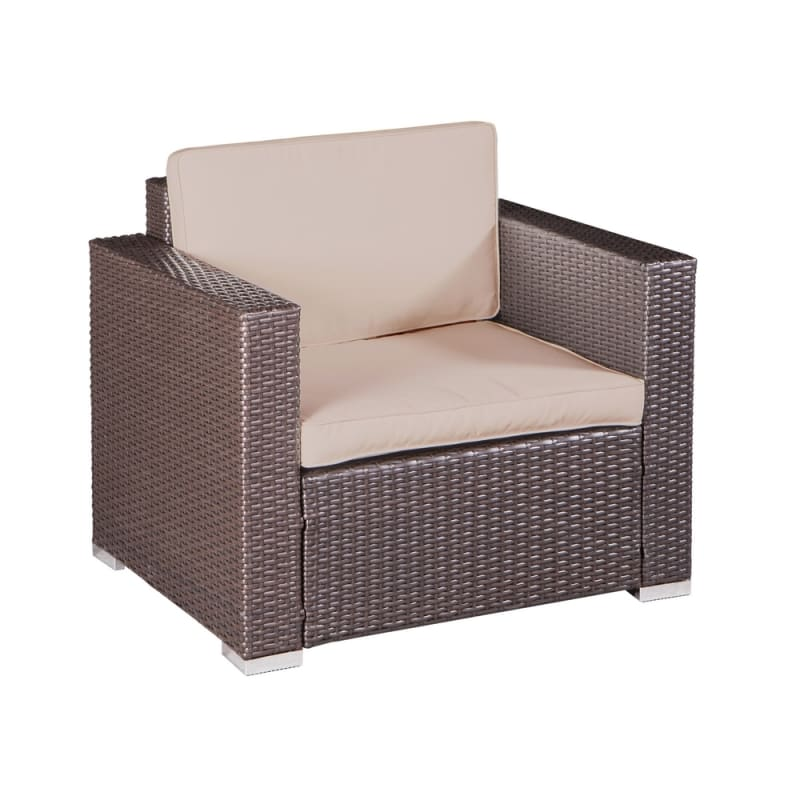 Palm Springs Modern 4 Piece Furniture Wicker Patio Set #4