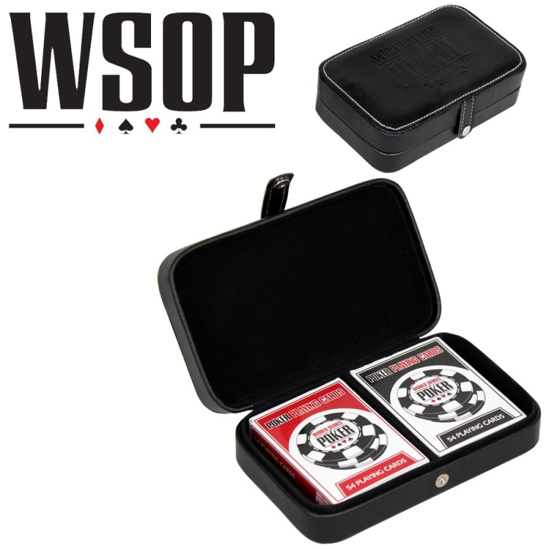 EX-DEMO World Series Of Poker Playing Cards - Leather Case