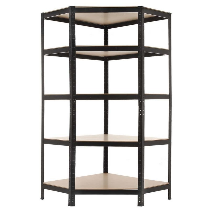 EX-DEMO Homegear Heavy Duty 5 Tier Corner Shelving Unit