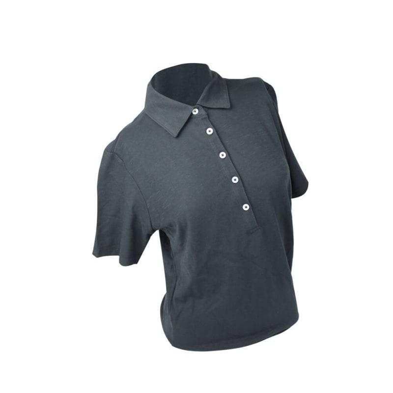 Ashworth Ladies 5 button Plain Polo Shirt Navy