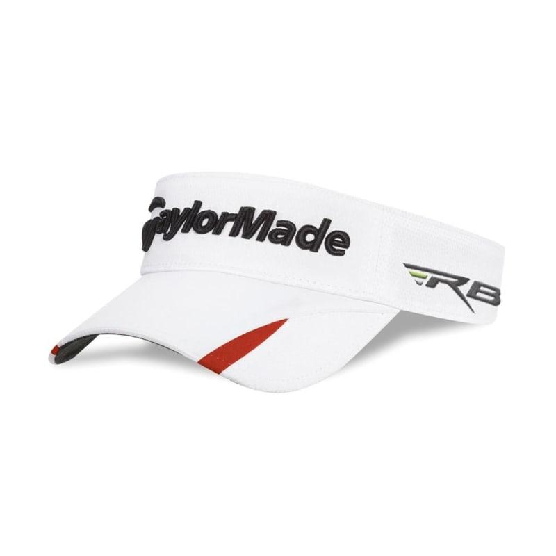 TaylorMade Tour Split 4.0 Visor - White / Red