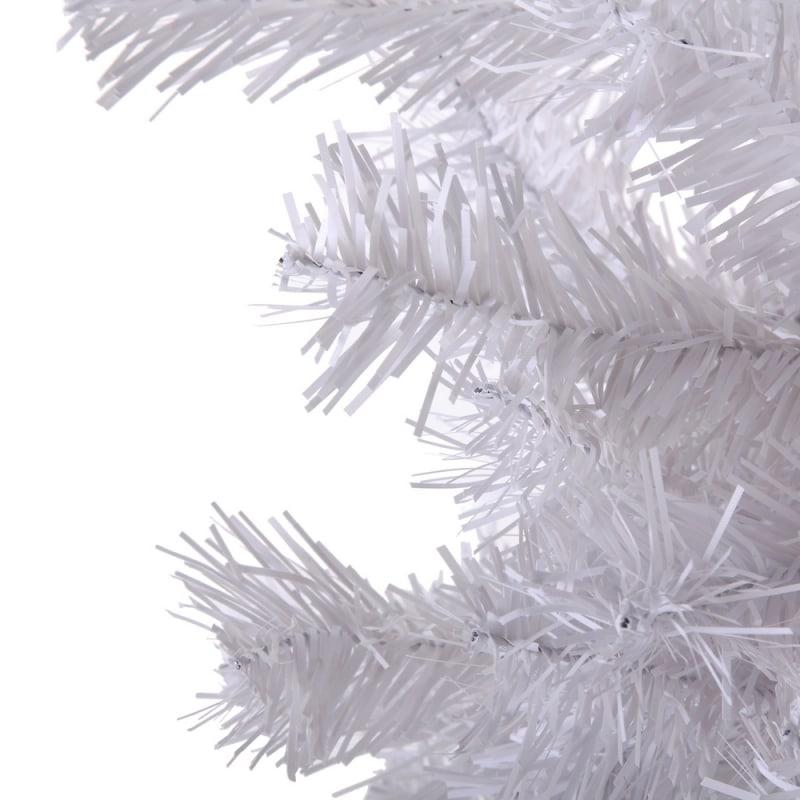 OPEN BOX Homegear 6ft White Artificial Xmas Tree #4