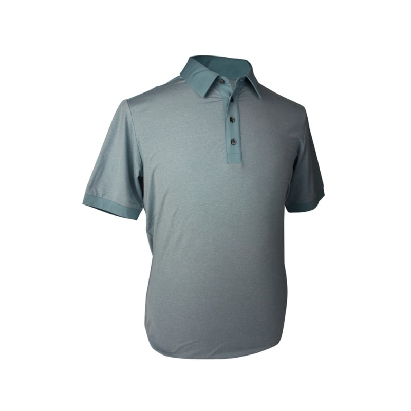 LIGHT GREY - Adidas Mens AdiPure Heather Short Sleeve Polo