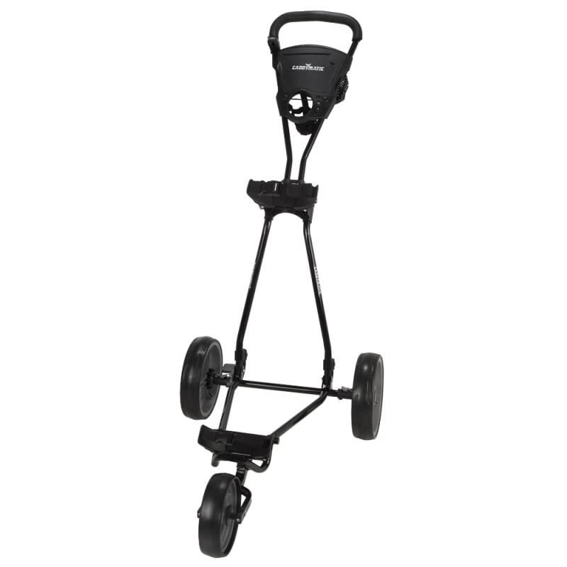 Caddymatic Golf Continental 3 Wheel Folding Golf Push/Pull Cart Black/Grey #