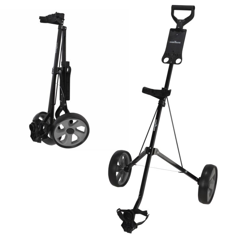 EX-DEMO Caddymatic i-Trac 2 Wheel Folding Golf Trolley Black