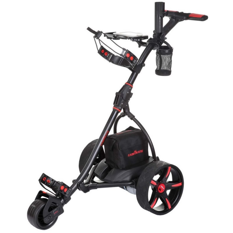 EX-DEMO Caddymatic V2 Electric Golf Trolley / Cart with Upgraded 36 Hole Battery With Auto-Distance Functionality - Black