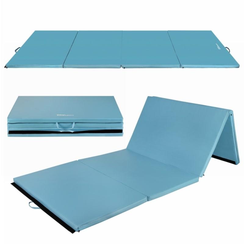 "Confidence 4'x10'x2"" Folding Gym Mat Blue"