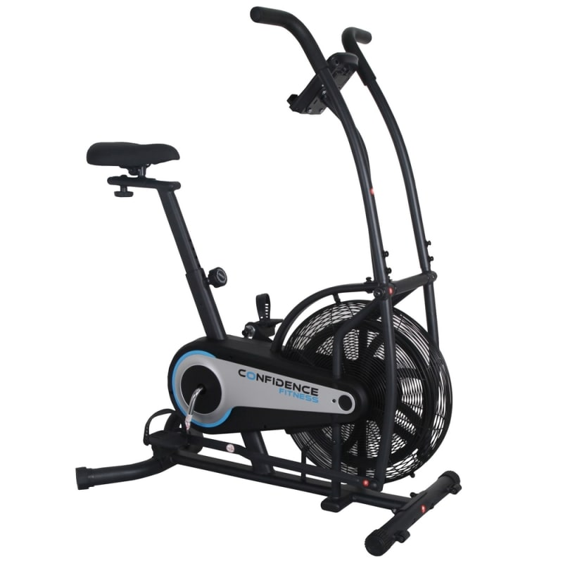 Confidence CF-100 Fitness Air Resistance Exercise Bike with Tablet Stand