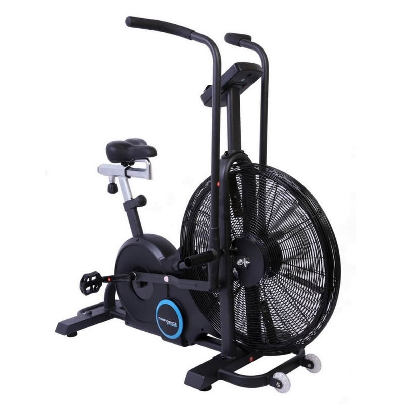 Confidence Fitness Exercise Bike Air Resistance Bike with Tablet Stand