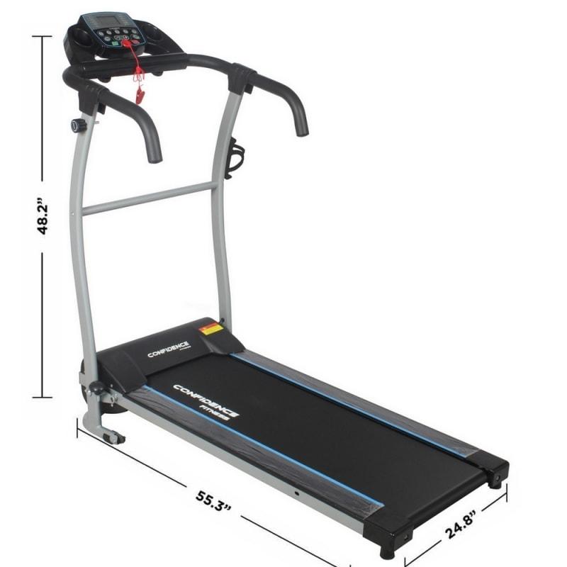 Confidence Fitness TP-1 Electric Treadmill Folding Motorized Running Machine #1