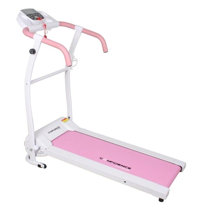 Confidence Fitness TP-1 Electric Treadmill Folding Motorised Running Machine - Pink