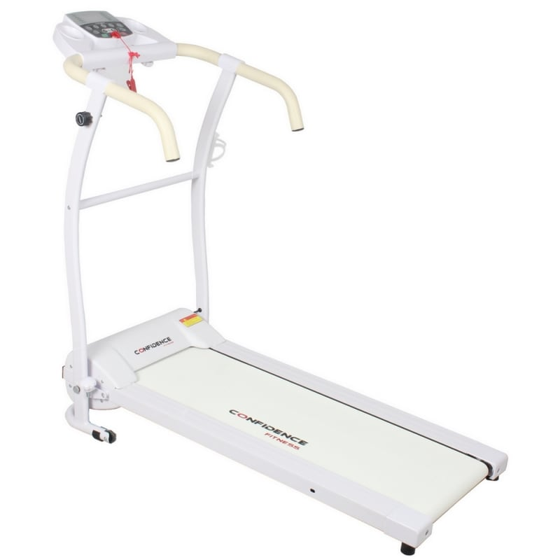 Confidence Fitness TP-1 Electric Treadmill Folding Motorized Running Machine - White