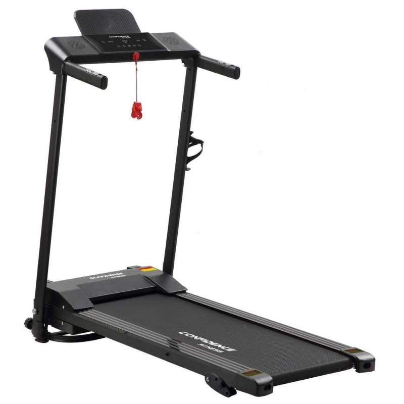 Confidence Fitness Ultra 200 Treadmill Electric Motorised Running Machine Black