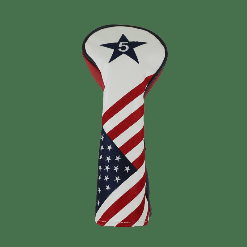 Ram Golf USA Stars and Stripes PU Leather Headcover - #5 Fairway Wood #