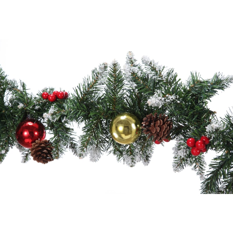 Homegear 9ft Decorated Christmas Garland #3
