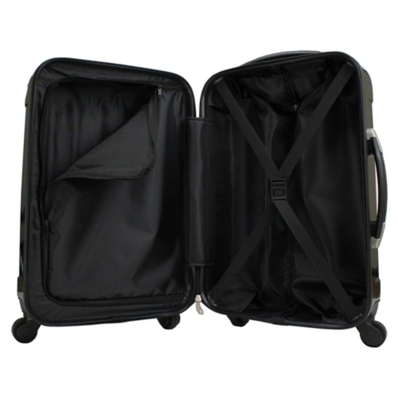 OPEN BOX Swiss Case Black 4 wheel 3 Piece Hardcase Luggage Set #5