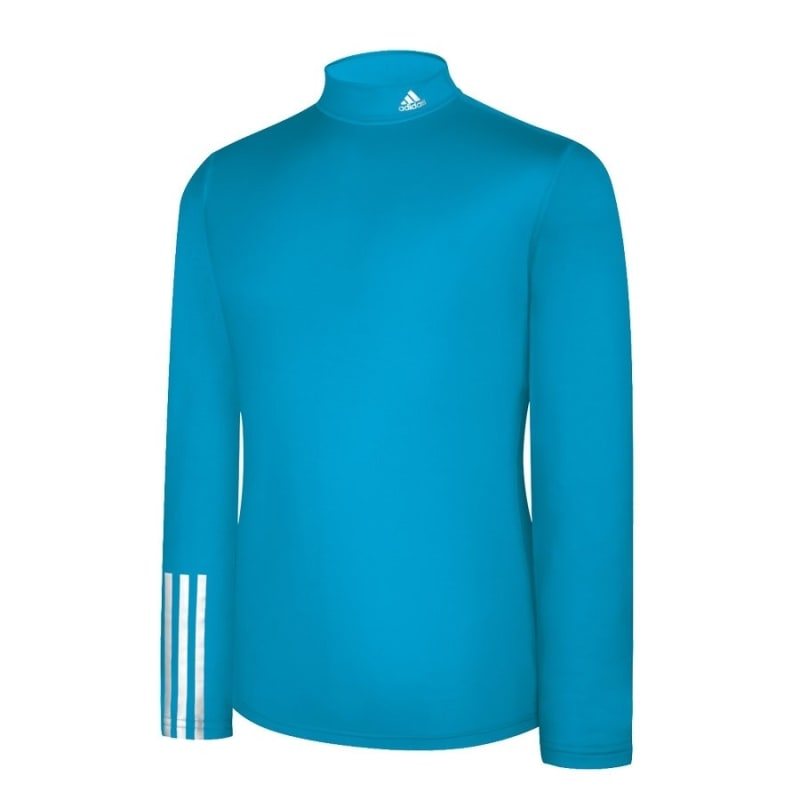 Adidas Mens Compression Logo Long Sleeve - Aqua