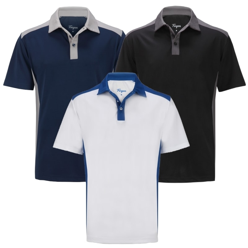 OPEN BOX Forgan of St Andrews Select Premium Golf Polo Shirt 3 Pack - Mens