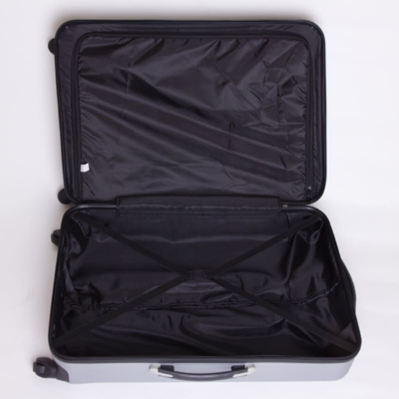 "OPEN BOX Swiss Case Diamond Silver 28"" 2PC Spinner Luggage #7"