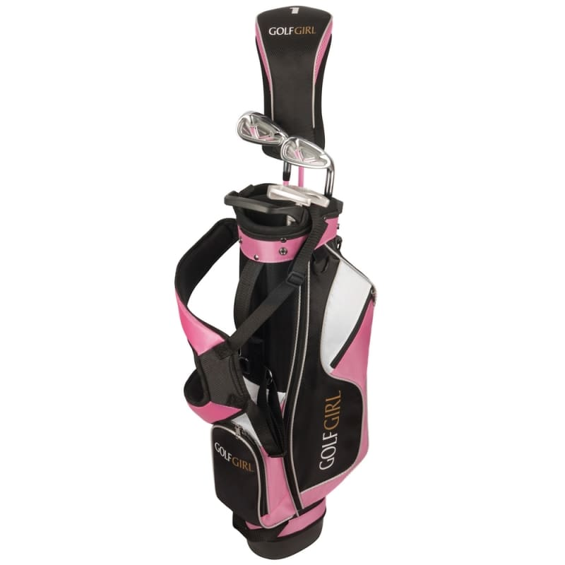 Golf Girl Junior Girls Golf Set V3 with Pink Clubs and Bag, Right Hand #1