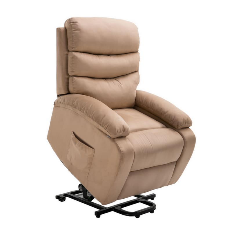 Astonishing Homegear Microfibre Power Lift Electric Riser Recliner Chair With Massage Heat And Vibration With Remote Taupe Machost Co Dining Chair Design Ideas Machostcouk
