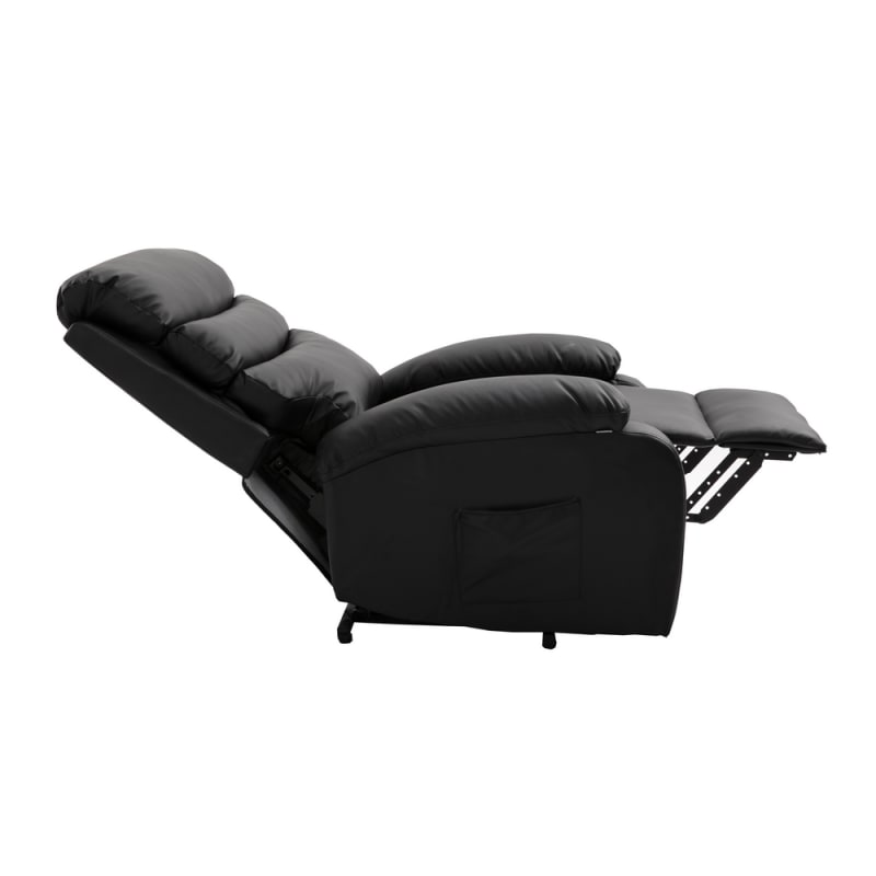 Homegear PU Leather Power Lift Electric Recliner Chair with Massage, Heat and Vibration with Remote - Black #1