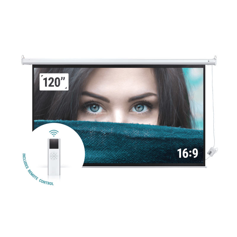"EX-DEMO Homegear 120"" 16:9 HD/3D Electric Projector Screen"