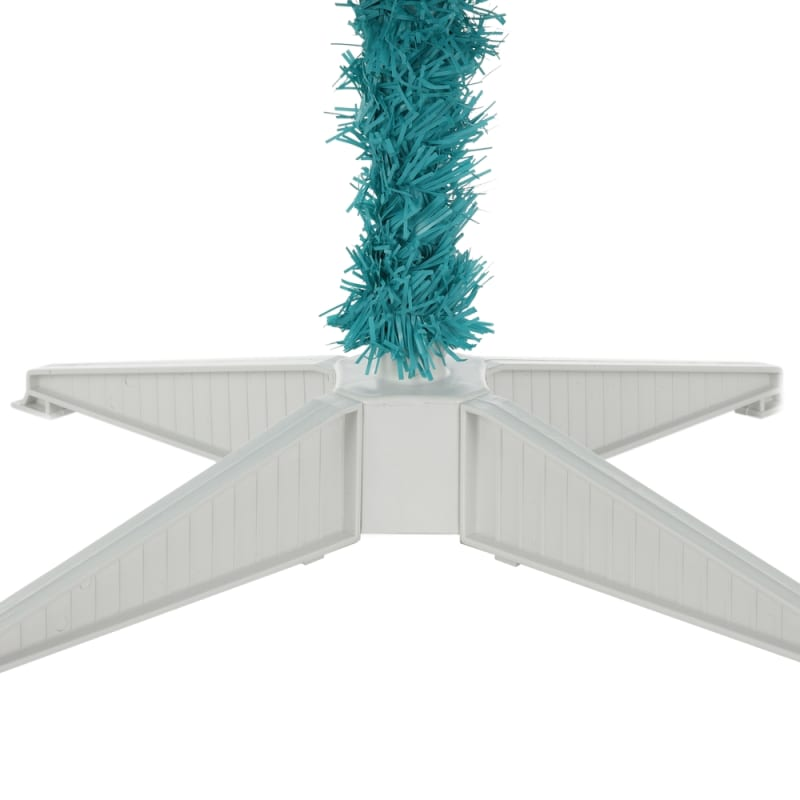 Turquoise And White Christmas Tree: Homegear 6FT Artificial Turquoise Christmas Tree Just $37