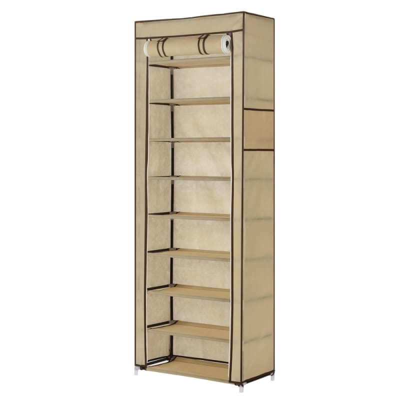Homegear 9Tier Free Standing Fabric Shoe Rack /Storage Cabinet
