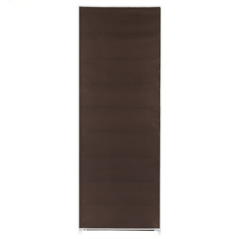Homegear Large Free Standing Fabric Shoe Rack /Storage Cabinet Dark Brown #3